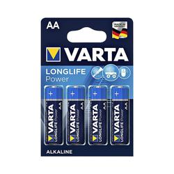 VARTA LONGLIFE Power Batterie, (4 St), AA, mit langer Lebensdauer