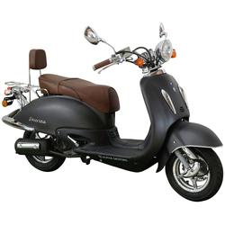 ALPHA MOTORS Motorroller Retro Firenze schwarz