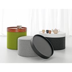 Softline Hocker Drum grün, Designer Softline Design Team, 30 cm