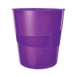 LEITZ Papierkorb WOW 5278, mit integriertem Tragegriff lila
