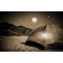 Bilderdepot24 Deco-Panel, selbstklebende Fototapete - Camping bei Nacht bunt 100 cm x 65 cm