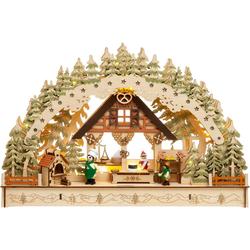 SIKORA Schwibbogen LB69 3D Weihnachtsbäckerei mit LED Beleuchtung