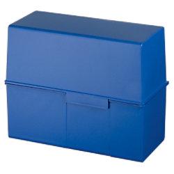 HAN Karteikartenbox DIN A5 450 Karten Blau 22,8 x 10,2 x 7,1 cm