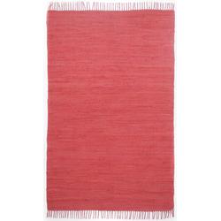Webteppich Happy Cotton Uni (Rot; 180 x 120 cm)