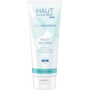 HAKA Hautbalsam sensitiv I 100 ml I Lotion zur Körperpflege, Hautpflege und Gesichtspflege I Parfümfreie Pflegecreme für trockene, strapazierte Haut