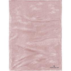 Wohndecke Flausch, TOM TAILOR, mit Logo rosa