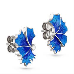 Silberne Ohrringe mit Blumenmotiv Zarya