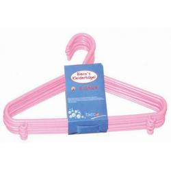 Kinder-Kleiderbügel-Set rosa BIECO