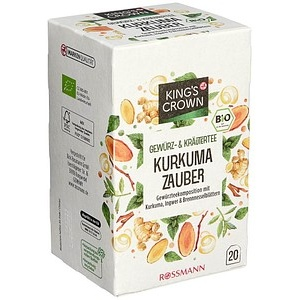 KING'S CROWN Kurkuma Zauber Bio-Tee 20 Teebeutel à 1,75 g
