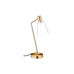 relaxdays Schreibtischlampe Schreibtischlampe gold