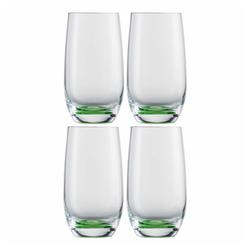 Eisch Becher 4er Set Jessica grün 350 ml, Kristallglas grün