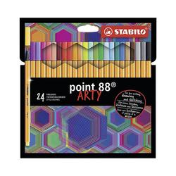 STABILO Filzstift Fineliner point 88 ARTY, 24 Farben