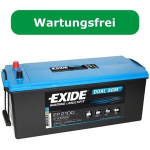 Exide EP2100 Dual AGM-Batterie, 240Ah