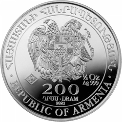 1/2 Unze Silber Armenien Arche Noah 2021
