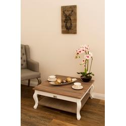 my Flair Couchtisch Adriana, Holztisch, Quadratische Form, Landhausstile braun Holz-Couchtische Holztische Tische