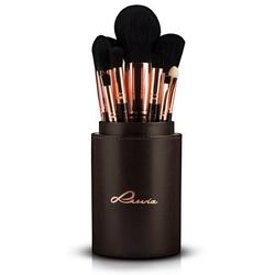 Luvia Cosmetics Kosmetikpinsel-Set Golden Queen, 15 tlg., vegan