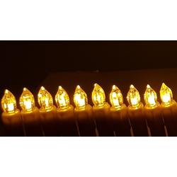 TRANGO LED-Christbaumkerzen LED Weihnachtskerzen, 24-flammig, TG340146GO orange leuchtend 24 LED Weihnachtskerzen mit Stecksystem Innenbereich Weihnachtsbeleuchtung, Lichterkette orange