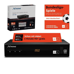 Strong SRT 7806 inkl. 6 Monate HD+ Sat-Receiver SAT-Receiver