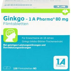 GINKGO-1A Pharma 80 mg Filmtabletten 120 St.