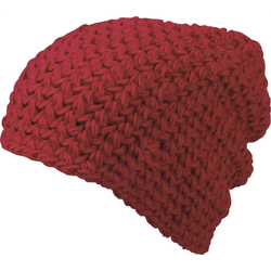 Neverless Strickmütze Häkelmütze Damen Beanie Oversized Wintermütze Winterbeanie Neverless® rot