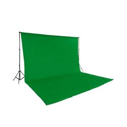 tectake Fotohintergrund Fotohintergrund Komplettset grün