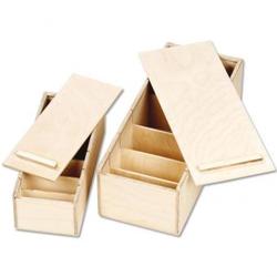 Lernboxen aus Holz - Lernbox DIN A7