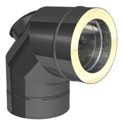 Ø 100 mm Jeremias DW FU Winkel 87° mit Reinigungsöffnung für Öl und Ga
