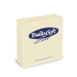 BulkySoft® Servietten LUXE, 1/4 falz, 3-lagig, Sehr saugfähige, vollflächig geprägte Serviette aus 100% Zellstoff, 1 Karton = 16 x 40 Servietten, Farbe: creme