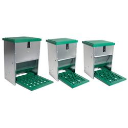 Geflügelfutterautomat mit Trittplatte für 12 kg Futter