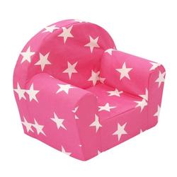 dynamic24 Sessel, Kindersessel Sterne pink Kinderzimmer Möbel Kinder Sitzgelegenheit Loungesessel