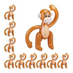 10 x Affe aufblasbar Wasserspielzeug Deko Dschungel Äffchen braun Safari Party