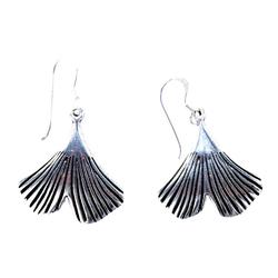 Kiss of Leather Ohrhänger-Set Ohrring Ohrhänger Ginkgoblatt Ginkgo Blatt Ohrringe aus 925 Sterling Silber