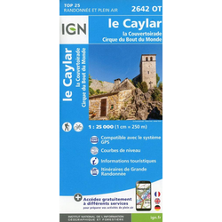 Le Caylar.la Couvertoirade.Cirque du Bout du Monde 1:25 000