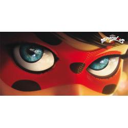 Strandtuch Ladybug Eyes (1-St), Miraculous, mit großer Nahaufnahme