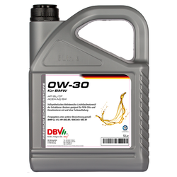 Motoröl DBV synthetisch 0W-30 5 Liter
