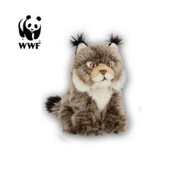 WWF Plüschfigur Plüschtier Luchs (15cm, dunkelbraun)