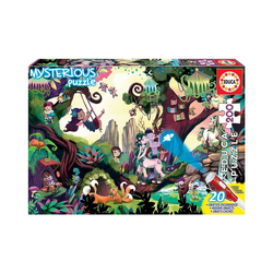 Educa Puzzle Mysterious Puzzle- Magic Forest, 200 Teile, Puzzleteile