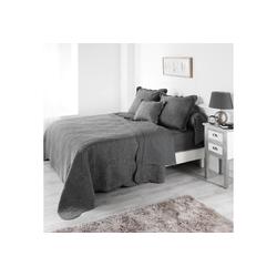 Tagesdecke, dynamic24, Landhaus Tagesdecke 220x240cm Bettüberwurf Bett Decke Überwurf Paisley Pique grau