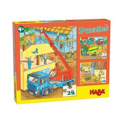 Haba Puzzle Puzzles Auf der Baustelle, Puzzleteile
