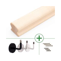 Holzhandlauf Ahorn omega 50 x 55 mm, bis 595 cm Länge nach Maß