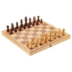 Philos Spiel, Schachkassette 2708 groß, Schach, Reiseschach, Reisekassette, Schachspiel, Holz, Holzschach