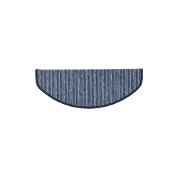 Stufenmatte Rom, Kubus, Halbrund, Höhe 4 mm blau Halbrund - 19 cm x 56 cm x 4 mm