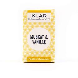 Klar Festes Shampoo - Haarseife - Vanille/Muskat - 100 g