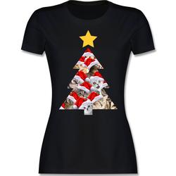 Shirtracer T-Shirt Katzenbaum - Weihnachten & Silvester - Damen Premium T-Shirt - T-Shirts katzenbaum rosa XL