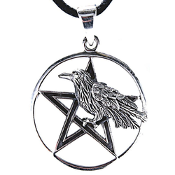 Kiss of Leather Kettenanhänger Raben Anhänger 925 Silber Odin Odins Rabe Raven Hugin Munin