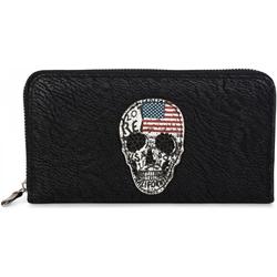 styleBREAKER Geldbörse Geldbörse mit USA Totenkopf, Geldbörse mit USA Totenkopf