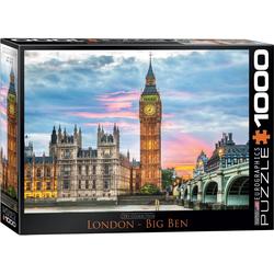empireposter Puzzle Big Ben - Elizabeth Tower in London - 1000 Teile Puzzle im Format 68x48 cm, Puzzleteile