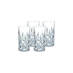 Nachtmann Longdrinkglas Noblesse Longdrinkgläser Set 4-teilig (4-tlg), Glas
