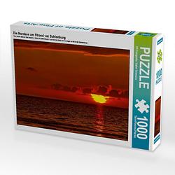 Die Nordsee am Strand vor Sahlenburg Lege-Größe 64 x 48 cm Foto-Puzzle Bild von Detlef Thiemann Puzzle