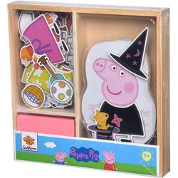 Eichhorn Puzzle Peppa Pig magnetisches Umzieh-Puzzle, 32 Puzzleteile, FSC®-Holz aus gewissenhaft bewirtschafteten Wäldern
